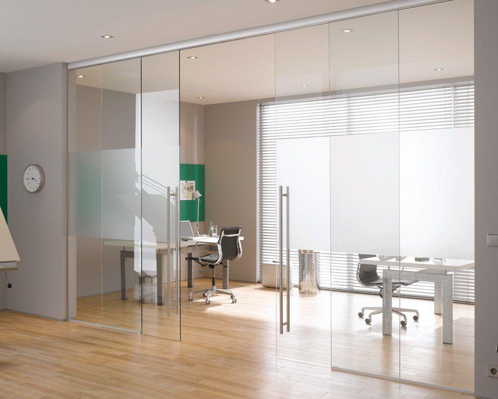 Instalación De Puertas Correderas De Cristal En Oficina